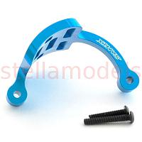Aluminum motor guard for WR-02 Chassis (Blue) [SAMIX]