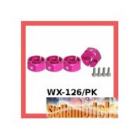 3RAC-WX126/PK Wheel Adaptor (6mm) - Thick (Pink)