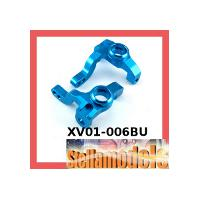 XV01-006BU Aluminum Front Knuckle Arm (Blue) for XV-01