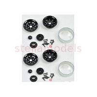 "1.9"" Steel Beadlock Wheels (Black, 1Pr.) (97400046)"