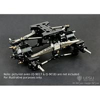 Leaf Spring Suspension for Rear Axles w/upgraded linkages (X-8002-B+) [LESU]