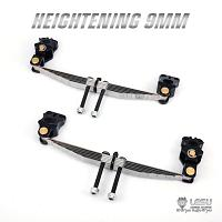 Raised 9mm front leaf suspension for non-driven axle 1/14 R/C Tractor Trucks (X-8020) [LESU]