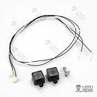 1/14 White LED Spotlights (2Pcs., S-1231-A) [LESU]