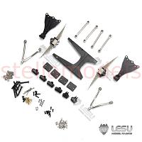 Raised 9mm rear leaf spring suspension for 1/14 R/C Tractor Trucks (X-8017-B) [LESU]