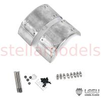 1/14 Stainless Steel Mudguard for Semi-Trailer / Dump Truck (2pcs.) [LESU]