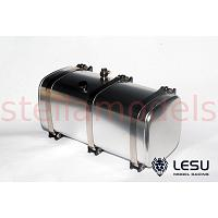 Aluminum 119mm Fuel  / Hydraulic Oil Tank (Black Straps) for 1/14 Tractor Truck (G-6012-119/B) [LESU]