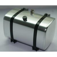 Aluminum 72mm Fuel / Hydraulic Oil Tank (Black Straps) for 1/14 Tractor Truck (G-6012-72/B) [LESU]