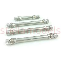 Stainless Steel Drive Shaft Set for 1/12 MC8 Military Truck