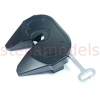 Fifth wheel coupler (1-axis) with semi-auto release handle (M-7701) [LESU]