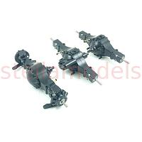 All Metal 6x6 Axle Set (3pcs) with diff lock  (Q-9112)
