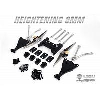 Raised 9mm rear leaf spring suspension for 1/14 R/C Tractor Trucks (X-8015-A) [LESU]
