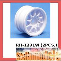 RH-1231W Mini 10 Spoke Wheel (White) (2PCS.)