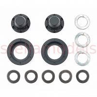 Hub nuts for single wheels (Black, 2pcs.) (56556) [TAMIYA]