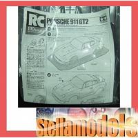 49387 1/10 SCALE R/C PORSCHE 911 GT2 BODY PARTS SET (swb = 237mm)