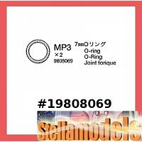 7mm O-Ring (MP3 x2) #19808069 [TAMIYA]