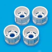 51618 WR-02CB T Parts (Wheel Rims) (White) [TAMIYA]