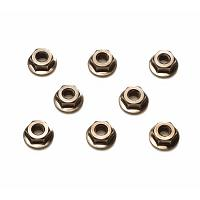 4mm Serrated Wheel Nut (Black/8pcs.) [TAMIYA]