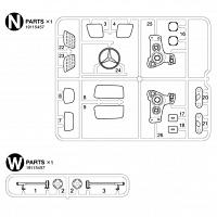 N, W Parts Bag for TAMIYA 1/14 R/C Mercedes-Benz Arocs [TAMIYA]
