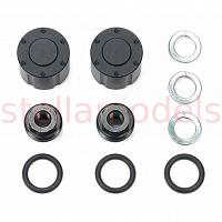 Hub nuts for dual wheels (Black, 2pcs.) (56557) [TAMIYA]