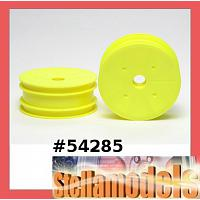 54285 DN-01 Front Dish Wheels (Fluorescent Yellow)
