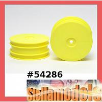 54286 DB01 Front Dish Wheels Fluorescent Yellow