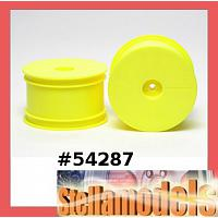 54287 DN-01 Rear Dish Wheels (Fluorescent Yellow)