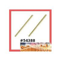 54388 3x48.5mm Titanium Coated Suspension Shaft ( for DB01 & DB02 / 2pcs)