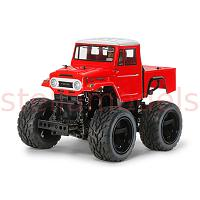 47305 GF-01 Toyota Land Cruiser 40 Pick-Up (Red Painted Body) w/ESC+Torque-Tuned Motor