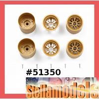 51350 F103 Mesh Wheel Set (Gold)