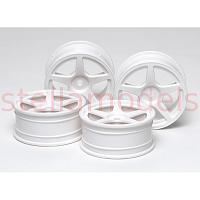 53471 Medium-Narrow White 5-Spoke Wheels (Offset 0)
