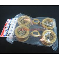 54527 F104 Mesh Wheels (for Rubber Tires / Gold)