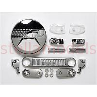 54627 Toyota FJ Cruiser Metal Plated H Parts (1/10 Scale R/C)