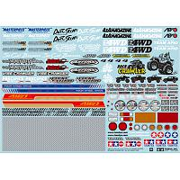 54630 Sponsor Sticker Set (for Off-Road Car)