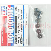 54642 4mm Flange Lock Nut (Black, 8Pcs.)