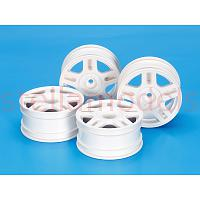 54674 White Split 5-Spoke Wheels (26mm Width, Offset +2) 4Pcs.