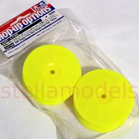 54748 Buggy Front Dish Wheels (Hex Hub, Yellow) [TAMIYA]