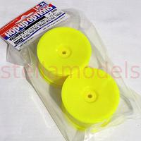 54749 Buggy Rear Dish Wheels (Hex Hub, Yellow) [TAMIYA]