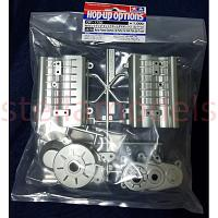 54750 Matte Plated Gearbox (A Parts) for 4x4 Pick-Up Truck [TAMIYA]