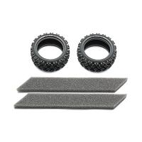 54861 Rally Block Tires (Soft/2Pcs.) [TAMIYA]