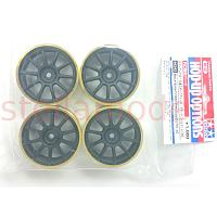 84242 Medium-Narrow 10-Spoke Wheels Black/Gold Rim (±0) 4PCS.