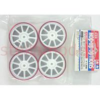 84251 Medium-Narrow 10-Spoke Wheels (White & Red Rims/±0) 4PCS.