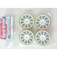 84254 Medium-Narrow 10-Spoke Wheels (White & Gold Rims ±0) 4PCS.