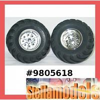 9805618 Front Tire & Wheel (L & R, 1pc. each)