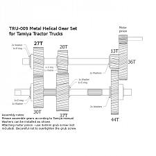 TRU-012 Metal Helical Gear Set for Tractor Truck (Version 2) 3
