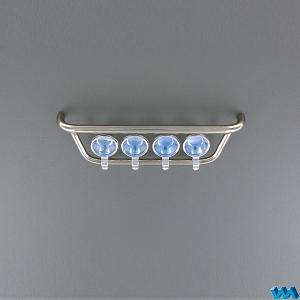 Scania front light holder with chromed spotlights for 1/14 TAMIYA Scania Tractor Truck (VM-207065) [Veroma]