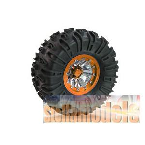 WH-28/OR 2.2 Inch Crawler Tyre Set - Mesh ( 4pcs) - Orange CR-01