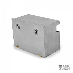 Stainless Steel Toolbox for 1/14 R/C Tractor / Dump Trucks (G-6123) [LESU]