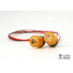 Rotating Beacon (Amber, 2pcs.) for 1/14 Tractor Trucks (S-1263-A) [LESU]