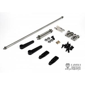 Steering Linkage Tie Rod Set for 8x8 / 8x4 1/14 R/C Trucks (G-6020-B, Ext.) [LESU]