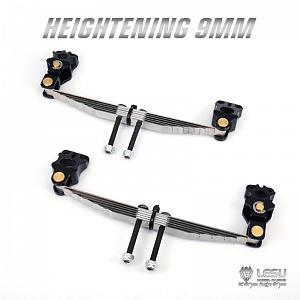 Raised 9mm front leaf suspension for driven axle 1/14 R/C Tractor Trucks (X-8016) [LESU]